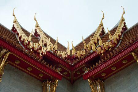 Temple of wat benchamabophit Stock Photo