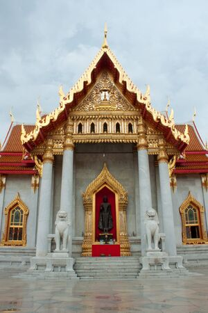 Temple of wat benchamabophit Stock Photo
