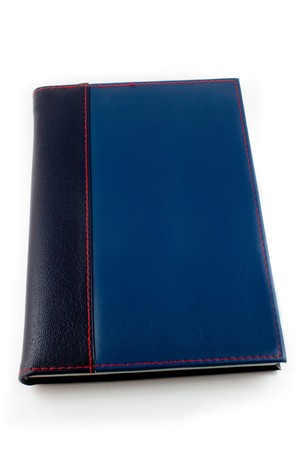Notebook leather cover. Stock Photo