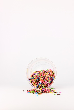 sugar sprinkles in cup photo