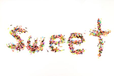 Sweet  word of sugar sprinkles  photo