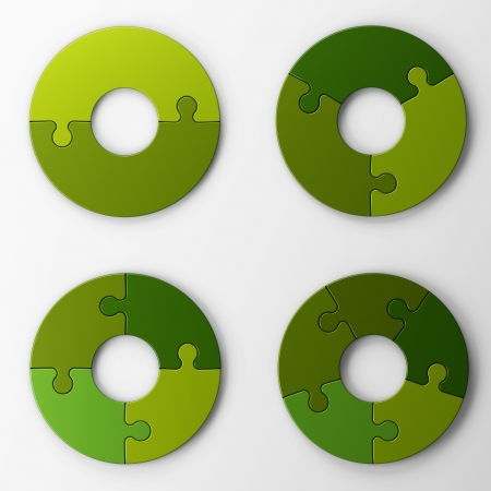 isolated puzzle pieces with clipping path