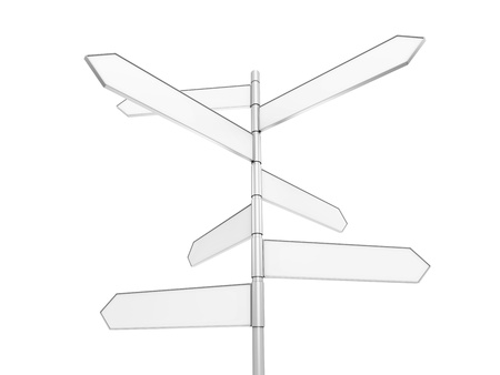isolated signpost with clipping path