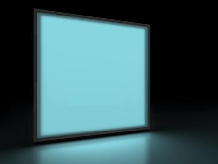 adboard: advertising light panel Stock Photo