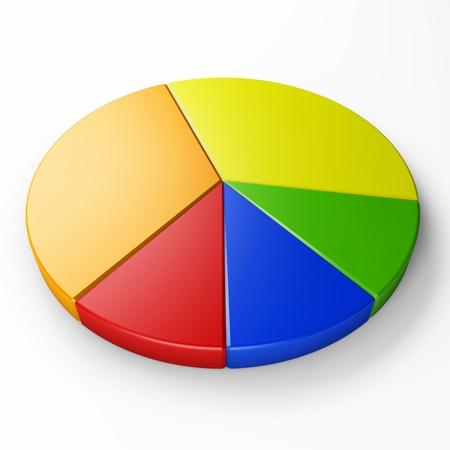 grafica de pastel: gráfico de sectores aislado para colocar conceptos con trazado de recorte Foto de archivo