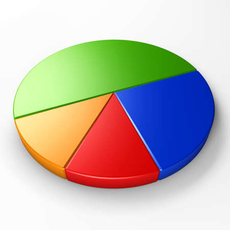 isolated pie chart to place concepts with clipping path