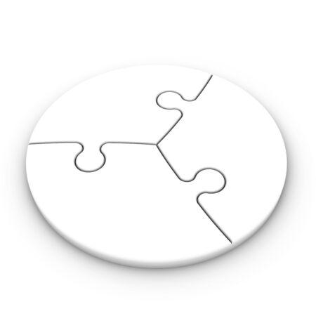 puzzle pieces: isolierten Puzzleteile, um Konzepte zu platzieren