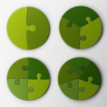 piezas de rompecabezas: piezas de un rompecabezas con trazado de recorte