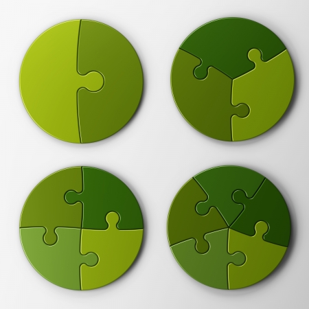 puzzle: puzzle pieces with clipping path