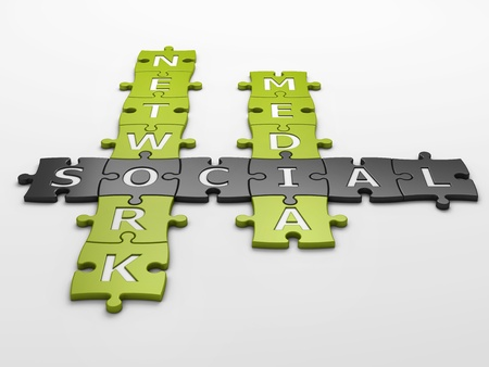 isolated crossword social media with clipping path Stock Photo - 18671890