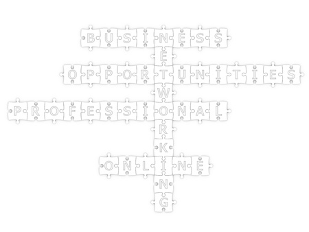 isolated crossword networking with clipping path photo