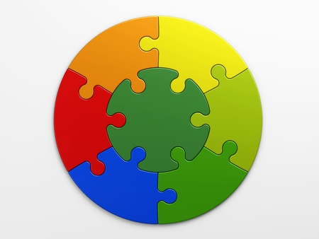 puzzle pieces: isolierten Puzzleteile, um Konzepte mit Clipping-Pfad platzieren Lizenzfreie Bilder