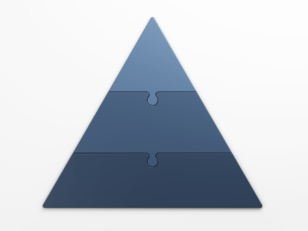 isolated pyramid hierarchy with clipping path