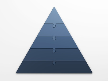 isolated pyramid hierarchy with clipping path photo
