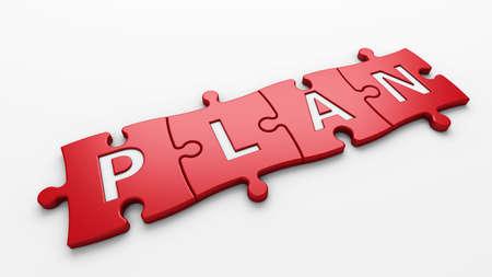 action plan: aislado palabra plan con trazado de recorte
