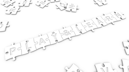 isolated text play   learn with clipping path Stock Photo - 20271528