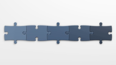 isolated puzzle pieces to place concepts with clipping path photo