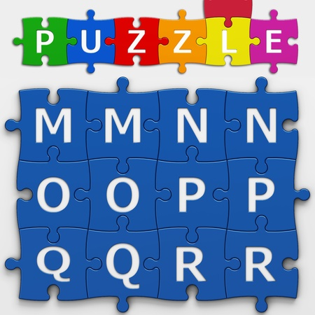 letters puzzle with clipping path to place concepts in a crossword Banco de Imagens