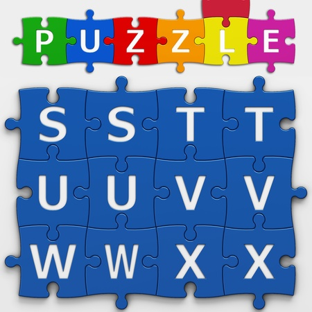 letters puzzle with clipping path to place concepts in a crossword photo