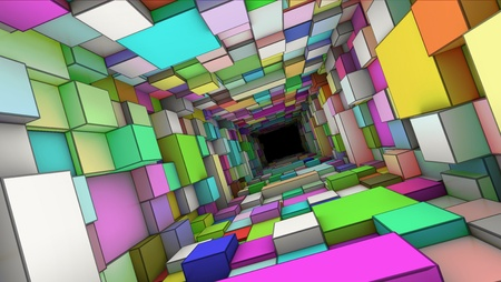 profundity: abstract colorful tunnel