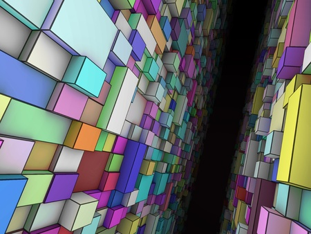 profundity: abstract colorful pasageway Stock Photo