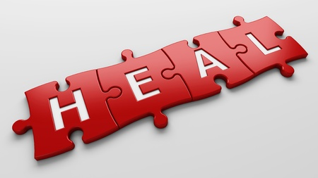 health reform: isolated word heal with clipping path