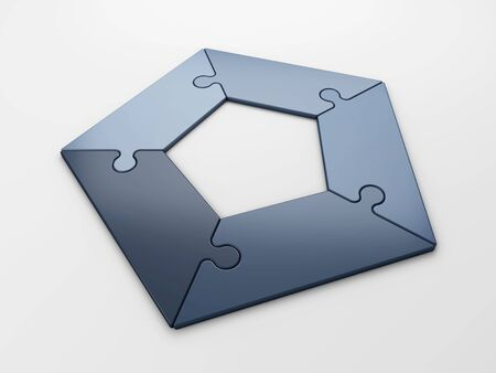 isolated puzzle diagram to place concepts with clipping path photo