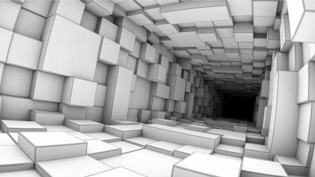 profundity: white deep tunnel