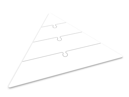 isolated pyramid hierarchy  photo