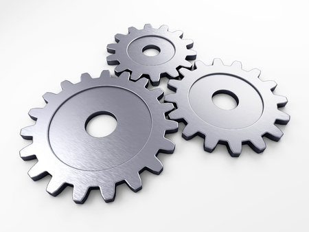 gearwheel: metal gear to place concepts with clipping path