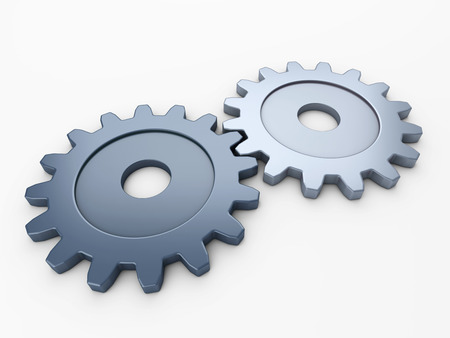 gearwheel: two gear to place concepts with clipping path