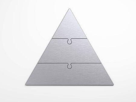 pyramidal: metal pyramidal hierarchy with clipping path Stock Photo