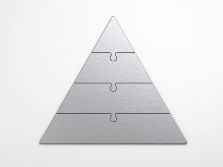 metal pyramidal hierarchy with clipping path photo