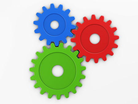three gear to place concepts with clipping path