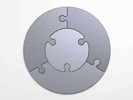 metal pieces of puzzle to place concepts  photo