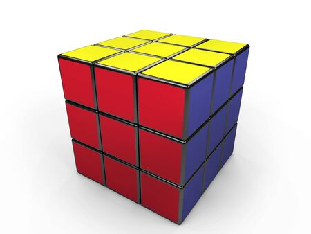 rubik: isolated cube rubik with clipping path