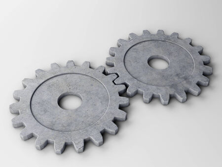 gearwheel: gear to place concepts. With clipping path Stock Photo