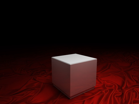 empty pedestal. With clipping path photo