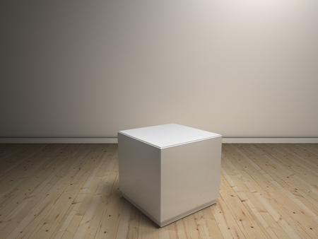 white pedestal to place product photo