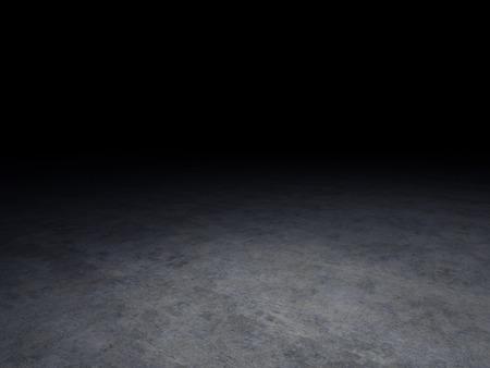 背景が暗いコンクリートの床