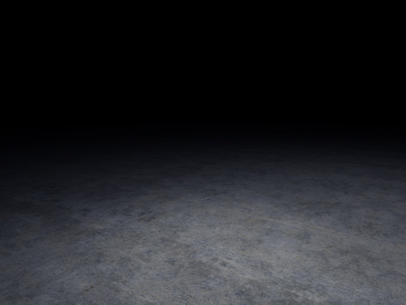 ground floor: concrete floor with dark background Stock Photo
