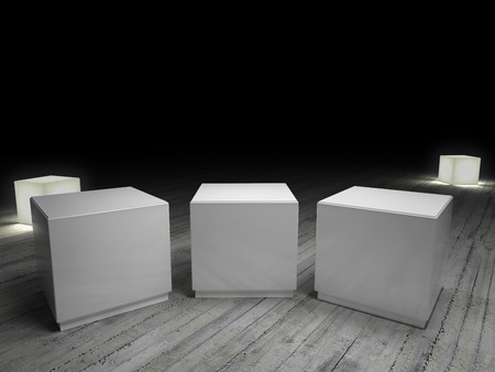 cube in black background photo