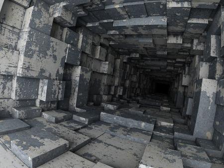 profundity: deep tunnel Stock Photo
