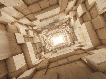 profundity: Light at end of tunnel Stock Photo