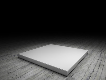 spotlight white background: platform to place your product