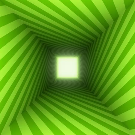 centered: green square spiral