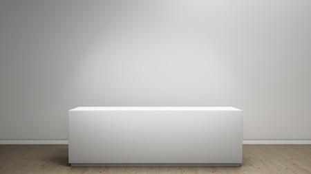 empty pedestal Stock Photo