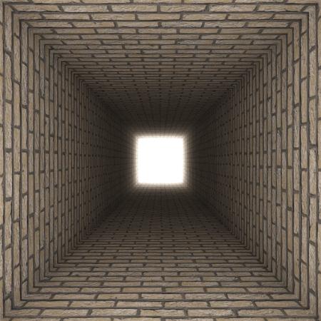 claustrophobia: brick wall tunnel