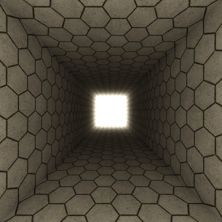 tunnel vision: textured tunnel hexagons