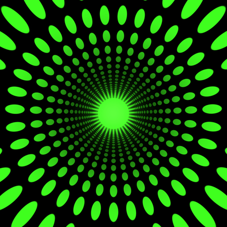 hypnotize: concentric dots